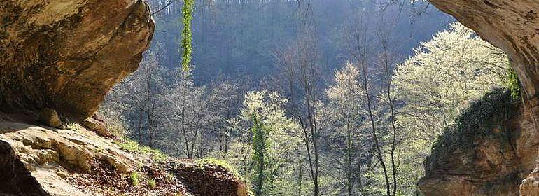 Eingang der Vindija-Höhle in Kroatien
