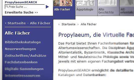 Propylaeum Homepage