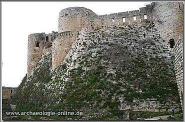 Krak des Chevaliers. Süd-Talus bzw. -Glacis der Oberburg