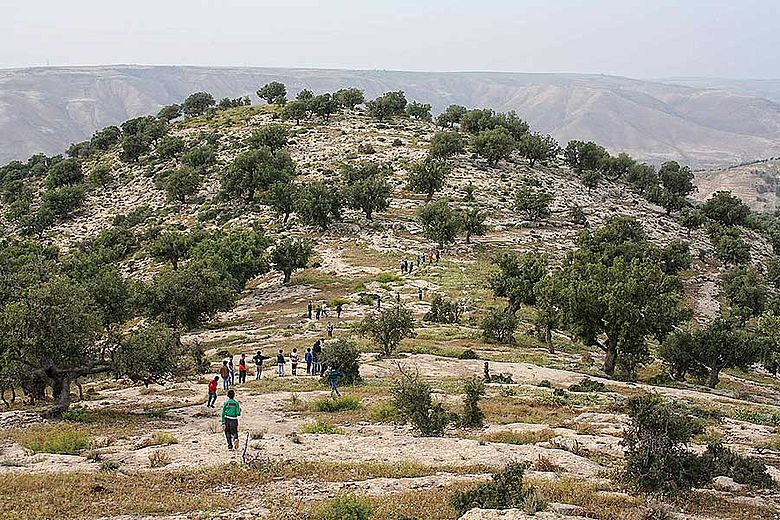 Schüler im Yarmouk Nature Reserve