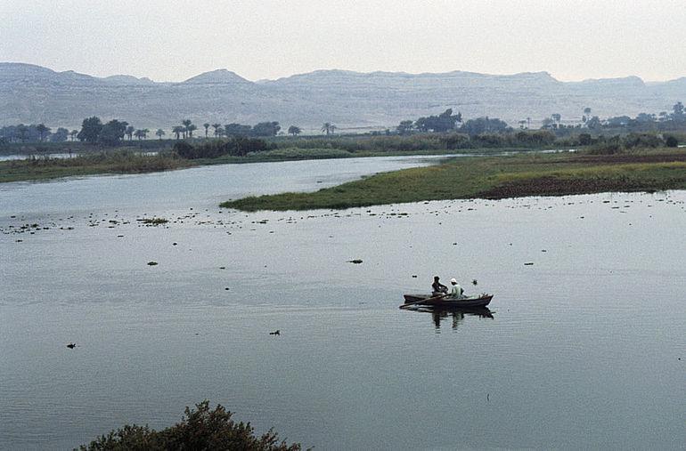 Nillandschaft in Mittelägypten