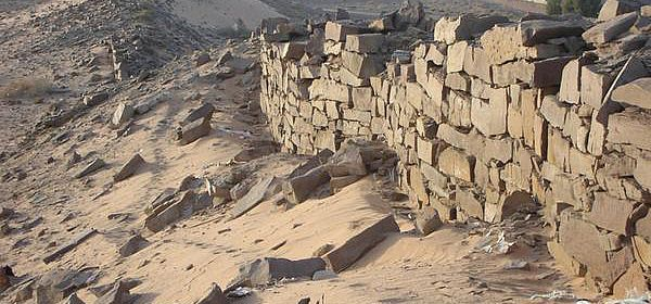 Die Mauern der Oase Tayma/Saudi-Arabien