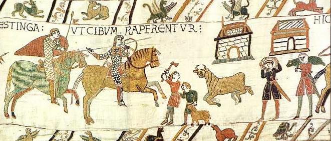  5  Szenen 45/46: Basislager der Truppen Wilhelms in Hastings
