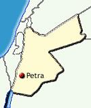 Lage von Petra in Jordanien