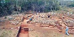 Die Grabungsfläche 2002 während der Ausgrabung. (Foto: Universität Bonn)