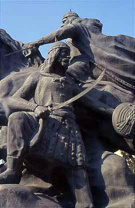 Ein Denkmal für Saladin, dem Kämpfer gegen die Kreuzfahrer im 12. Jahrhundert. (Foto: S. Heidemann)