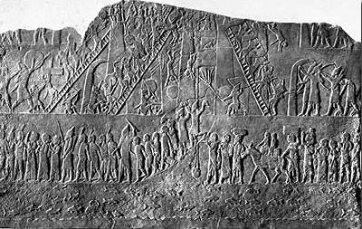 Relief aus dem Nordpalast in Ninive. London, British Museum. Alabaster, neuassyrisch, 7. Jh. v. Chr. (Foto: Archäologische Sammlung Uni Freiburg)
