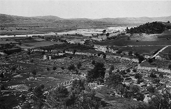 Grabungsansichten von Olympia um 1900. (Foto: DAI)