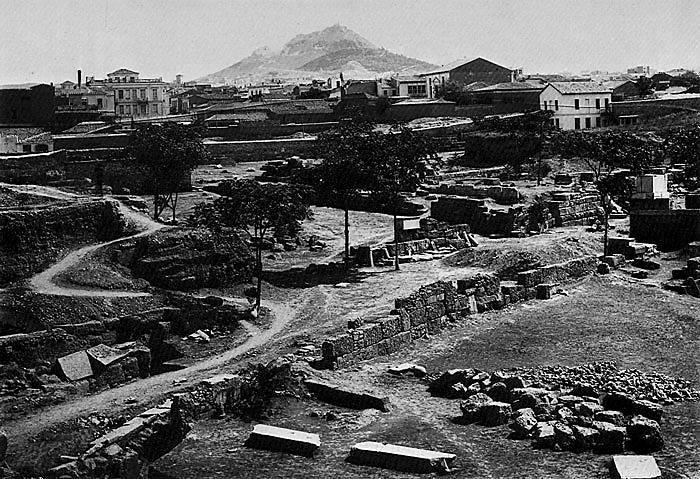 Grabungsansicht von Keramaikos um 1909. (Foto: DAI)
