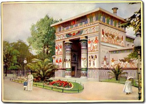 Das Straussenhaus im Berliner Zoo (Postkarte)
