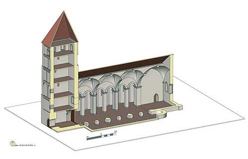 Vreden, Bau V. (Rekonstruktion H. Weiß, www.masswerke.de)