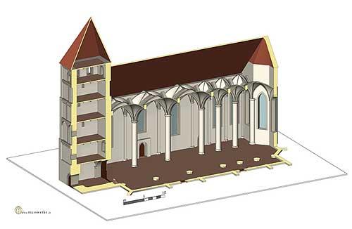 Vreden, Bau VI. (Rekonstruktion H. Weiß, www.masswerke.de)