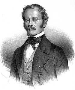 Ludwig Ross, Lithographie von Maurin, 1845. (Foto:Robertinum, Archäologisches Museum der Universität Halle)