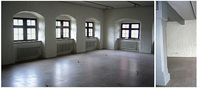 Rechts: Viel heller und größer wirkt der Saal des Alamannenmuseums mit neuer Decke, neuem Boden und neuen Farben. Links: Die schweren Holzsäulen des Raumes sind sind nun nicht mehr dunkelbraun sondern dezent grau. Das Gleiche gilt für die Decke. (Fotos: Alamannenmuseum Weingarten)
