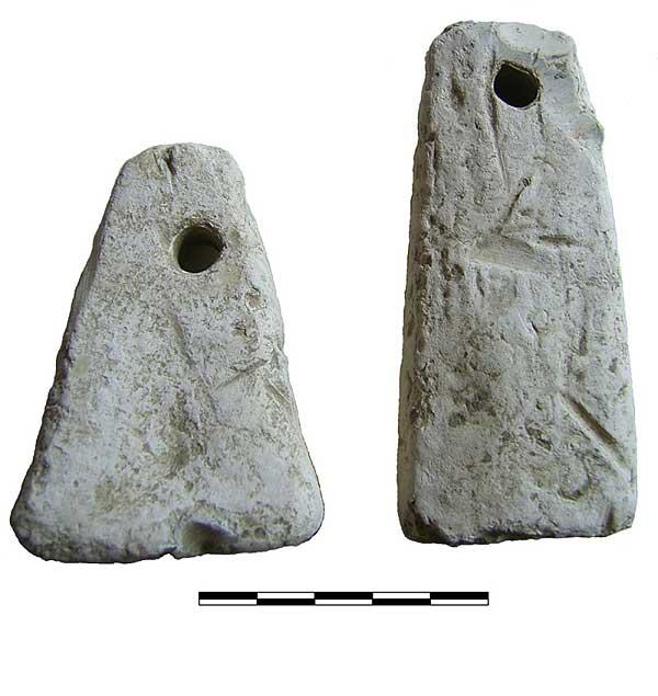 Abb. 3| Trapezförmige Bleibarren von Bleiwäsche (Foto M. Straßburger)