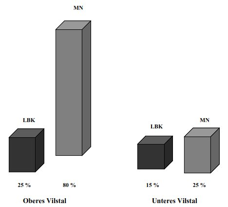 Grafik: Importanteil Arnhofener Plattenhornsteine im Vilstal