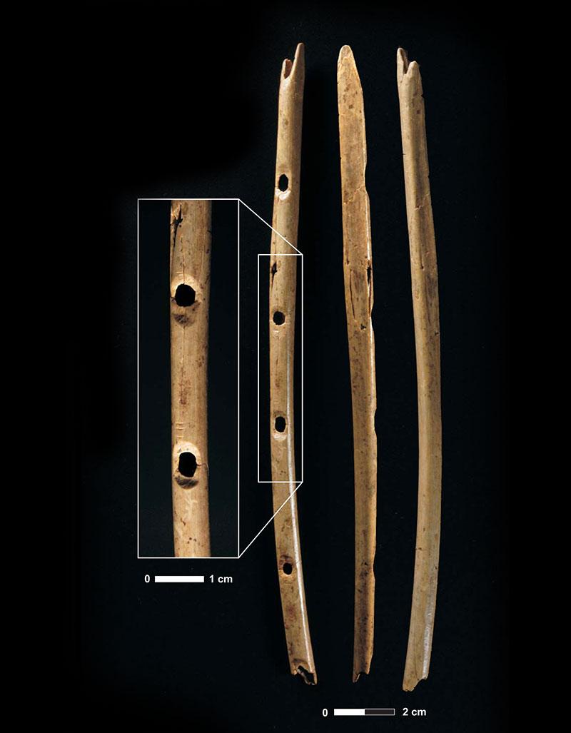 Eiszeitliche Knochenflöten aus dem Hohle-Fels