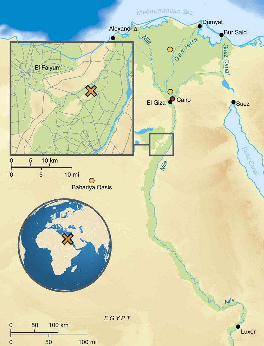 Karte Ägypten