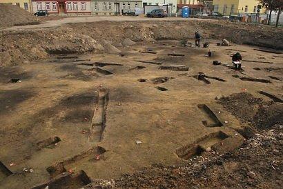 Blick über die Grabungsfläche in Arnstadt