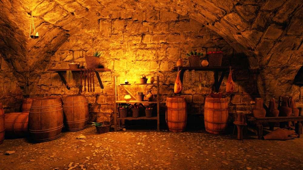 Keller im Tavernenbereich