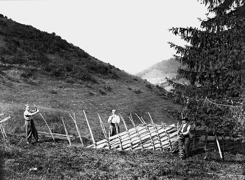 Ringzaun historisches Foto