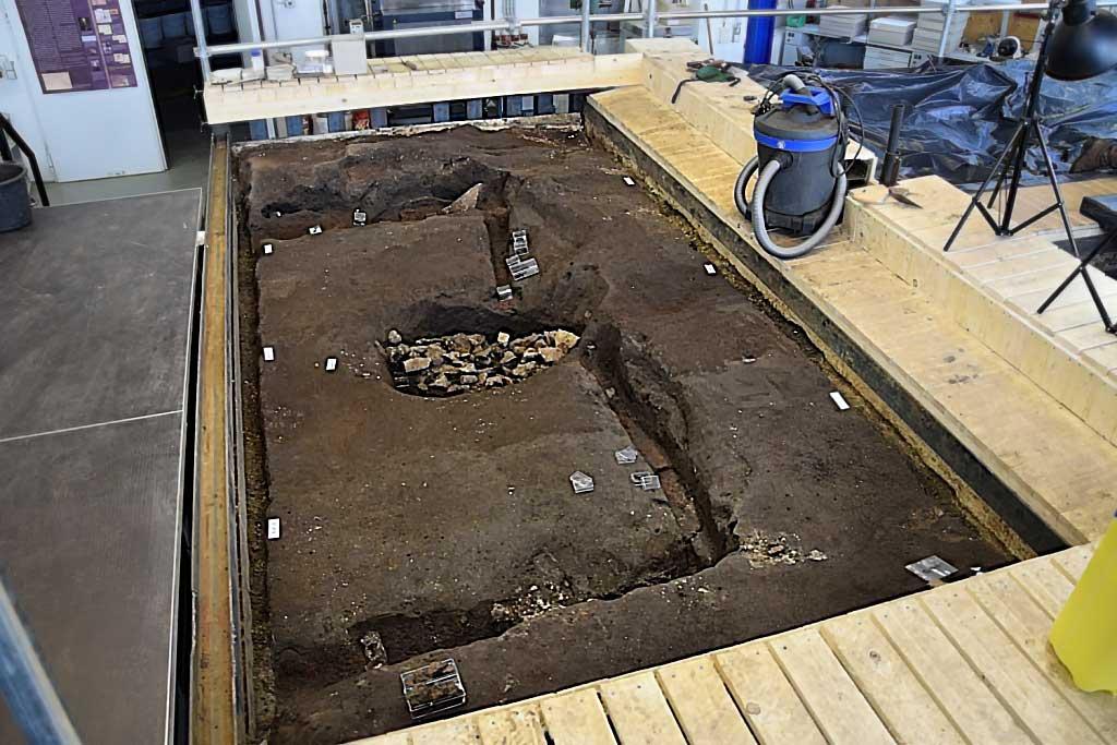 Freigelegter Teil der Grabkammer