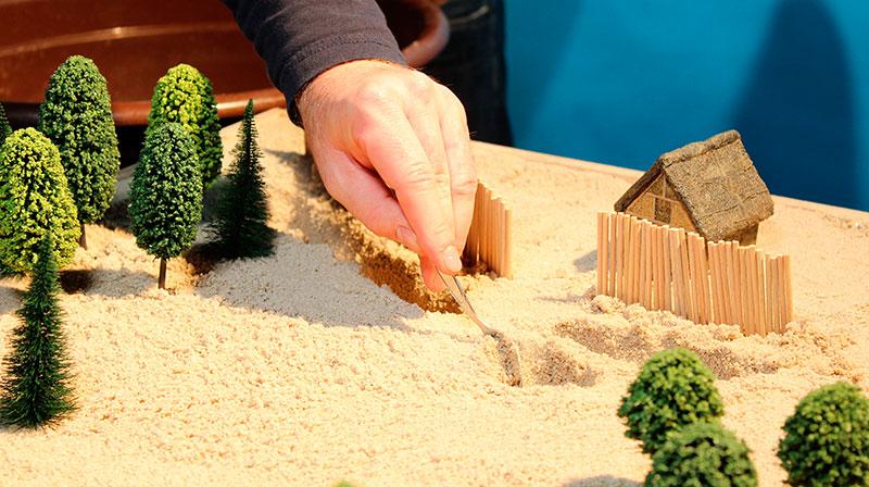 Modell Keltensiedlung am Glauberg