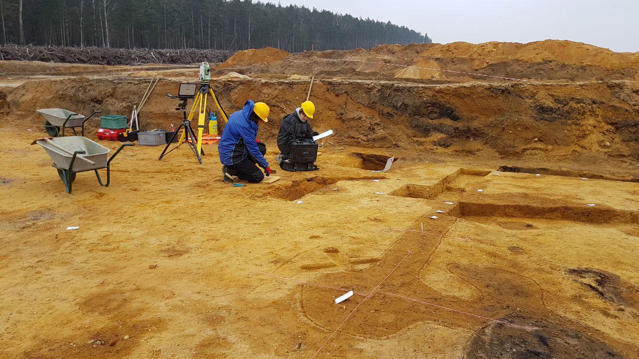 Ausgrabung im Tagebaugebiet