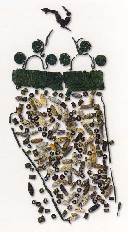 Picener Fibel mit Perlen
