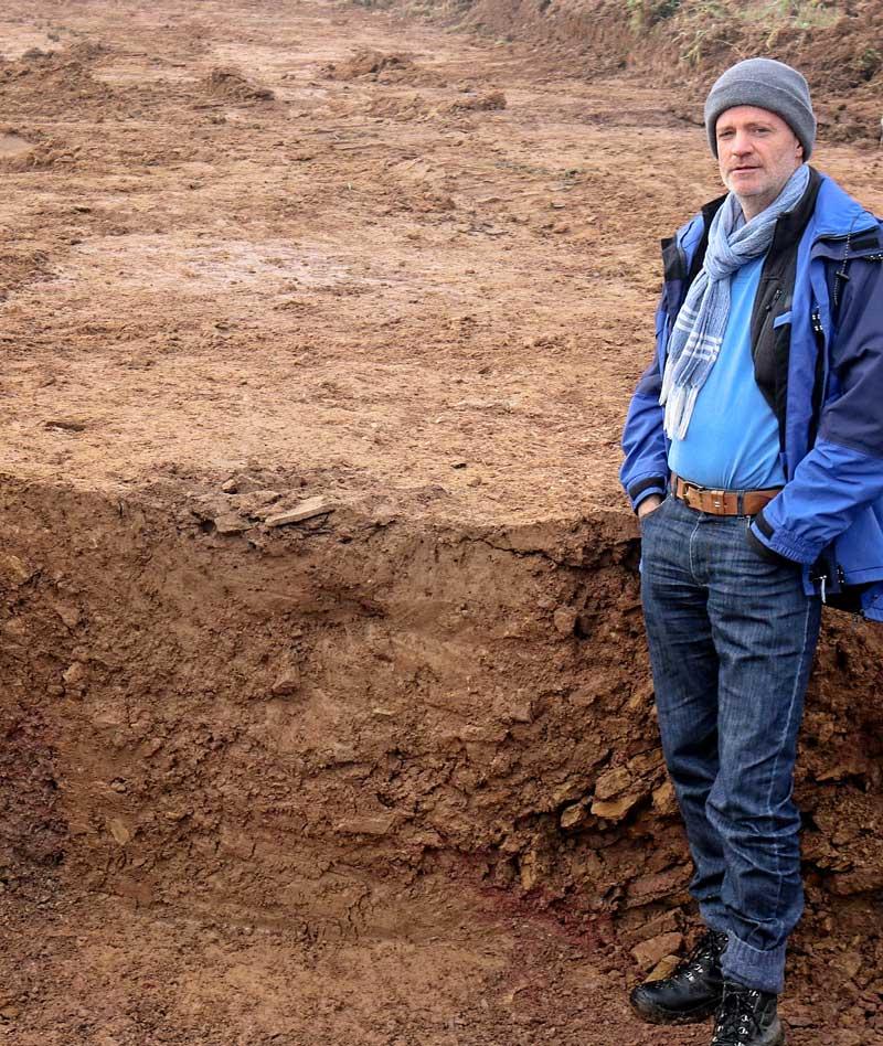 Eisenzeitliche Vorratsgrube im Profil
