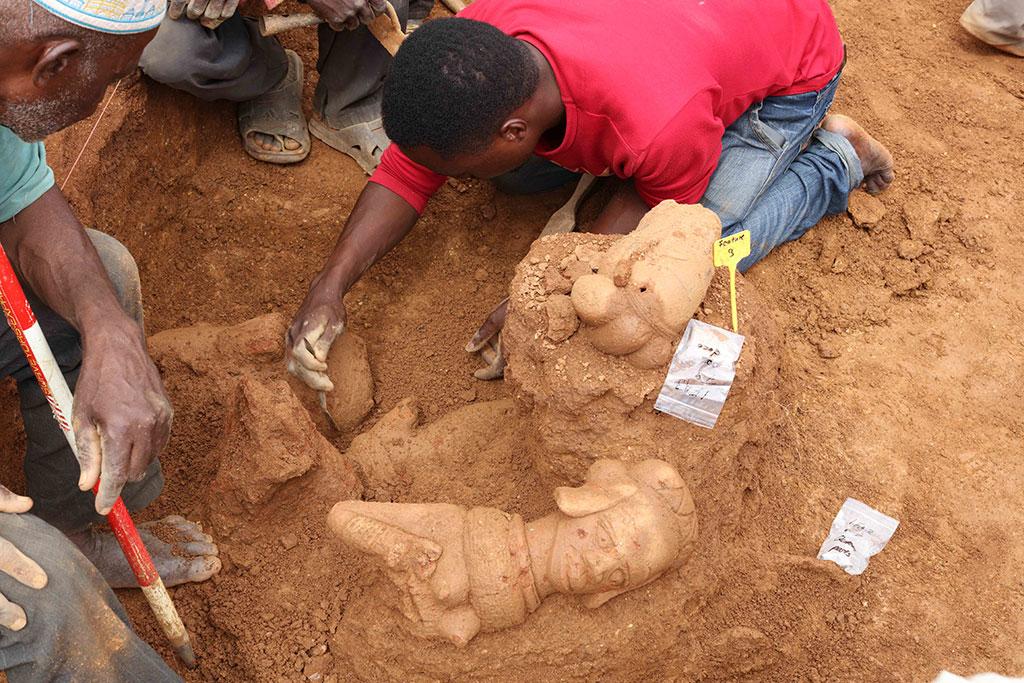 Ausgrabung an Nok-Fundstelle Ifana 3, Nigeria