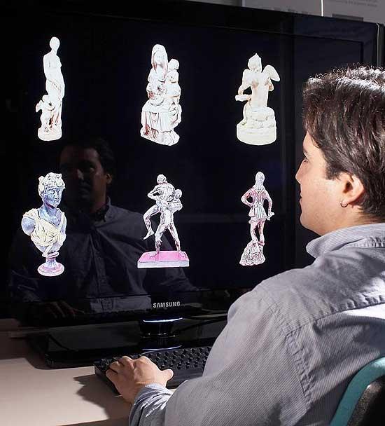 In einem virtuellen Archiv sollen Kunstgegenstände digitalisiert und dreidimensional dargestellt werden. (© Fraunhofer IGD)