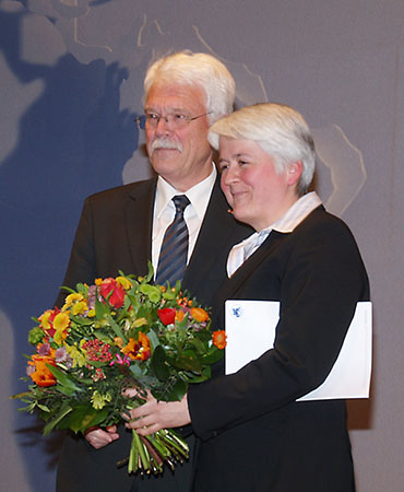 Professor Hans-Joachim Gehrke übergab am 16.3.2011 das Präsidentenamt an Professorin Friederike Fless. Foto: DAI