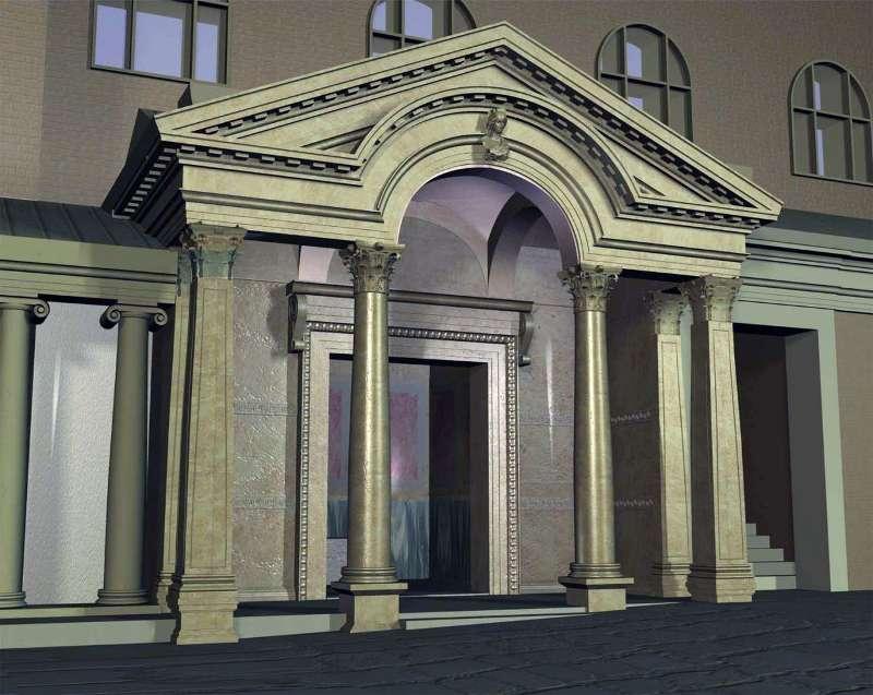 3-D-Rekonstruktion des Hadrianstempels