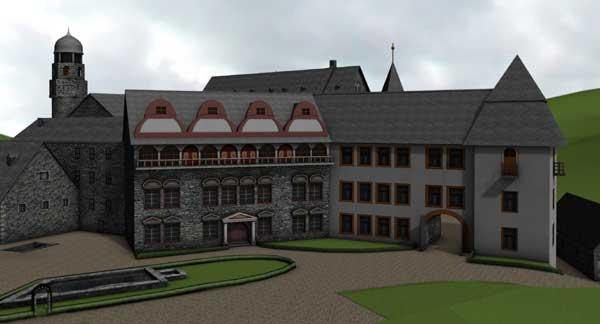 Rekonstruktion des Herrenhauses der Festung Dillenburg