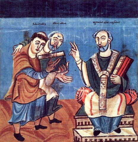Karolingische Buchmalerei Hrabanus Maurus