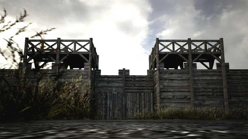 So könnte es ab Sommer 2014 in Haltern aussehen: Die römische Tor-anlage des historischen Römerlagers soll ab jetzt Schritt für Schritt in Originalgröße rekonstruiert werden (Foto: LWL/Römermuseum - FaberCourtial)