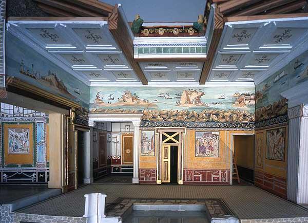Casa del poeta tragico - Modell eines pompejanischen Herrscherhauses mit Wandgemälden (Pressestelle Uni Leipzig)
