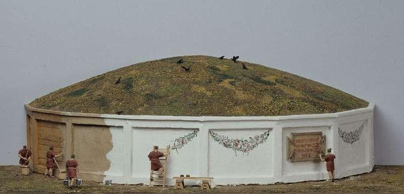 So wie auf diesem Modell im Halterner LWL-Römermuseum könnte das Grab aussehen