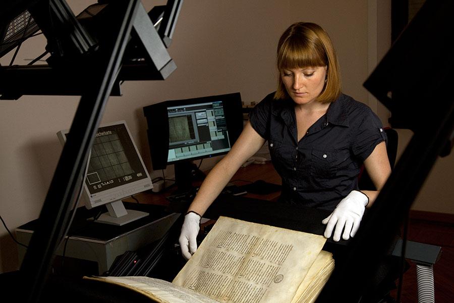 Digitalisierung einer Handschrift