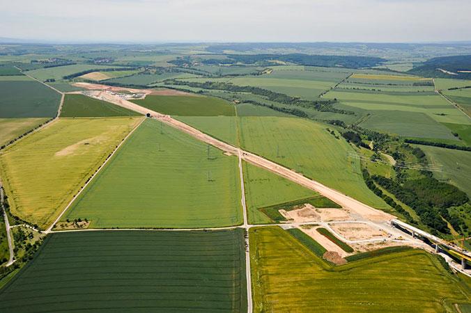 Luftbild der Grabungsfläche