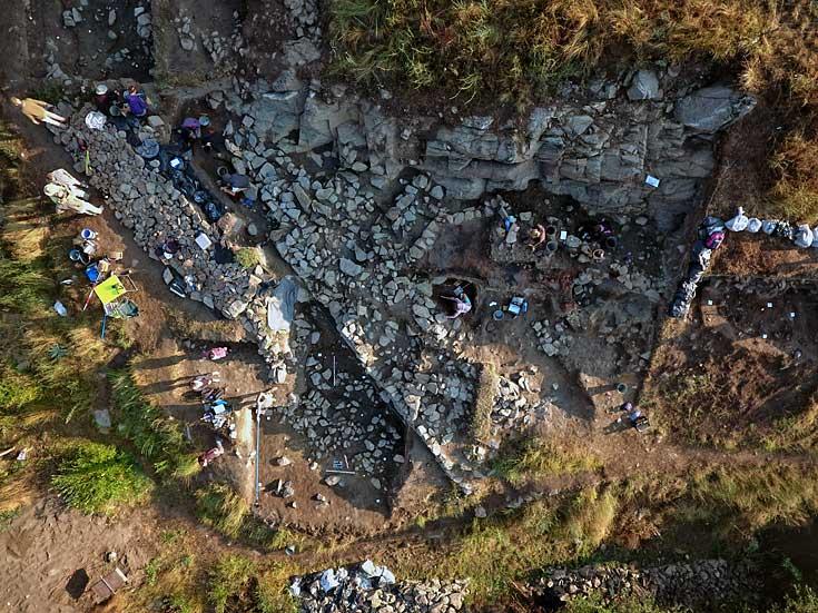 Luftaufnahme Ausgrabung Bresto