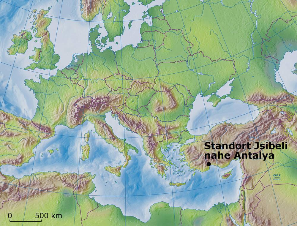 Standort der untersuchten Bäume in der Türkei (Abb.: GFZ)