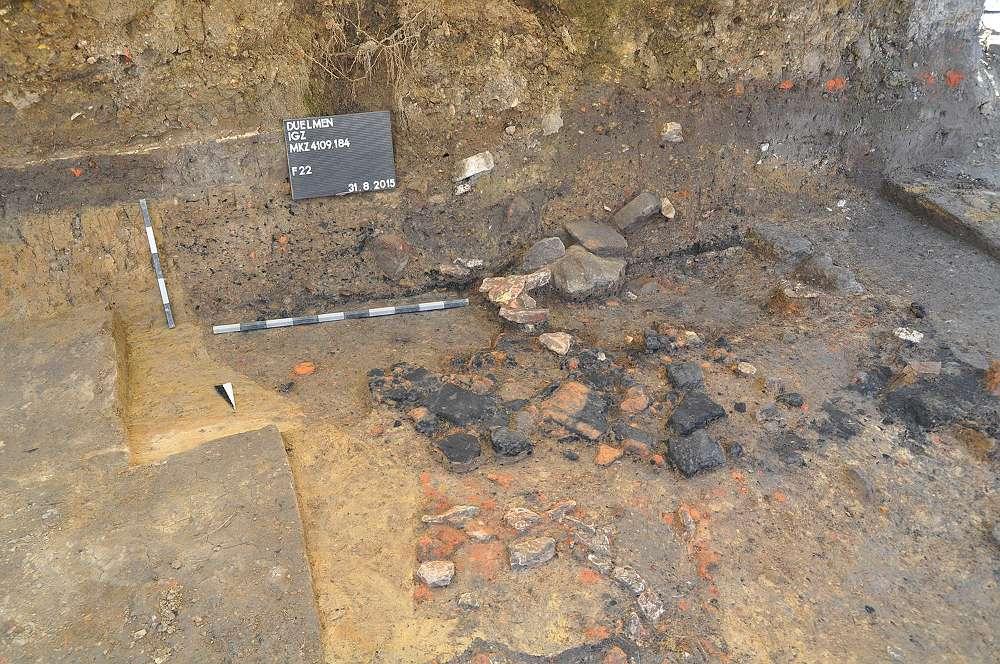 Überreste eines Ofens