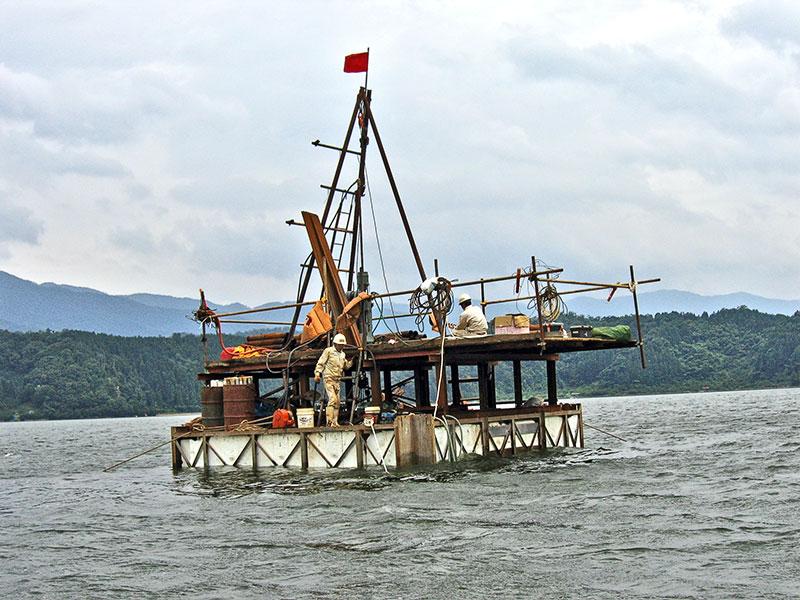 Warvenkern-Bohrung Suigetsu-See