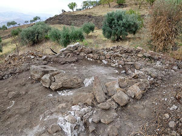 Römisches Presshaus für Olivenöl