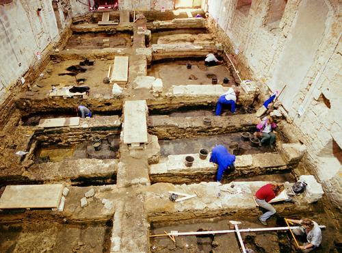 Archäologische Ausgrabung im Kloster Gravenhorst im Jahr 2002