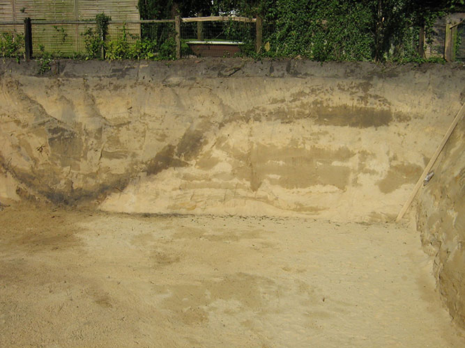 Stadtgraben von Haltern im Grabungsprofil