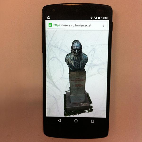 3D-Büste im Smartphone