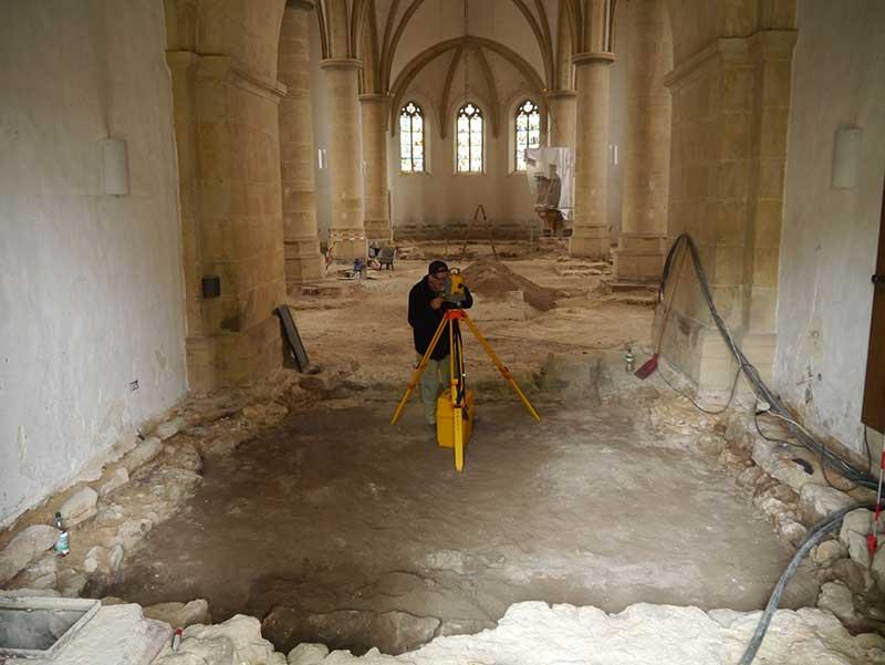 Ausgrabung in der Christuskirche
